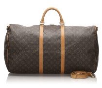 Second Hand Keepall Bandouliere 60 aus Canvas in Braun