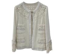 Second Hand Jacke/Mantel aus Baumwolle in Weiß