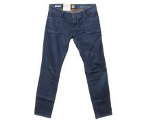 Second Hand Jeans mit Kontrastnähten