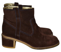Second Hand Ankle-Boots aus Wildleder