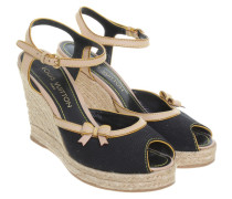 Second Hand Wedges in Schwarz/Beige