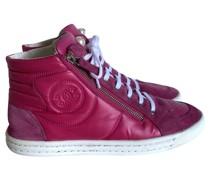 Second Hand Sneakers aus Wildleder in Rosa / Pink