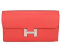 Second Hand Constance Wallet aus Leder in Rot