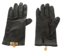 Second Hand  Lederhandschuhe mit Metall-Applikation