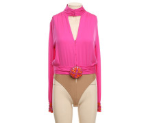 Second Hand  Seidenbluse in Pink
