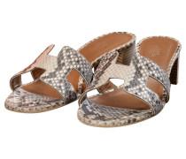 Second Hand Sandaletten aus Pythonleder