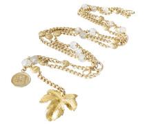 Second Hand Gürtel - Ahornblatt Medaillons Perlen