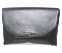 Second Hand Laptop Case aus schwarzem Leder