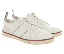 Second Hand Sneakers aus Leder in Creme