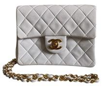 Second Hand Classic Flap Bag aus Leder in Weiß