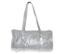 Second Hand Handtasche aus silberfarbenem Leder