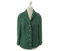 Second Hand Jacke mit grünem Web-Muster