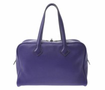 Second Hand Victoria Bag aus Leder in Violett