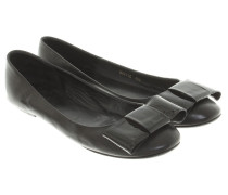 Second Hand  Lederballerinas in Schwarz