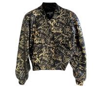 Second Hand Jacke/Mantel aus Leder in Schwarz
