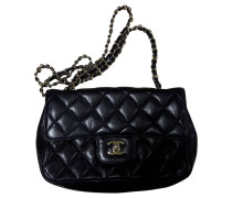 Second Hand Classic Flap Bag Extra Mini aus Leder in Schwarz