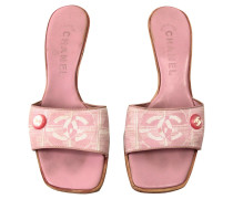 Second Hand Pumps/Peeptoes aus Canvas in Rosa / Pink