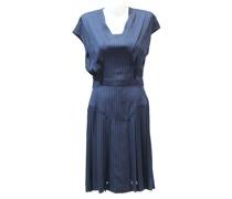 Second Hand Kleid aus Seide in Blau