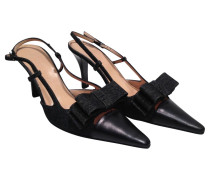 Second Hand Sling Pumps mit Schleife