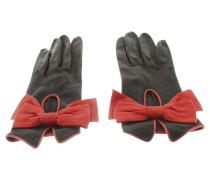 Second Hand  Lederhandschuhe mit roten Details