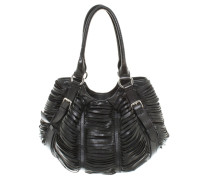 Second Hand Handtasche aus schwarzem Leder