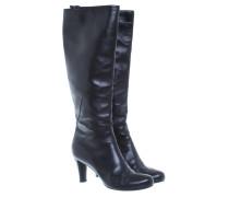Second Hand  Schwarze Stiefel aus Glattleder