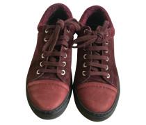 Second Hand Sneakers aus Wildleder in Bordeaux