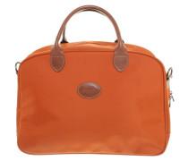 Second Hand Reisetasche mit Lederdetail