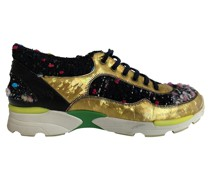 Second Hand Sneakers aus Leder in Gold
