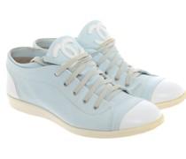 Second Hand Sneakers aus Leder in Blau