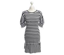 Second Hand Kleid in Schwarz/Weiß