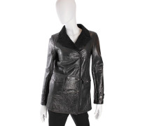 Second Hand Lammfelljacke in Schwarz
