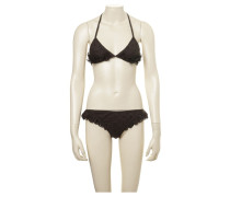 Second Hand Dunkelbrauner Triangel-Bikini