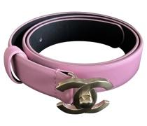 Second Hand Gürtel aus Leder in Rosa / Pink