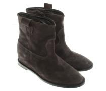 Second Hand  Wildleder-Boots in Grau