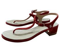 Second Hand Sandalen aus Wildleder in Rot
