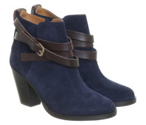 Second Hand  Stiefeletten in Blau