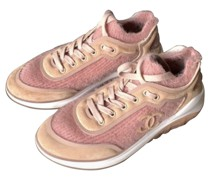 Second Hand Sneakers aus Leinen in Rosa / Pink