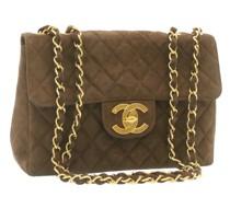 Second Hand Classic Flap Bag aus Wildleder in Braun