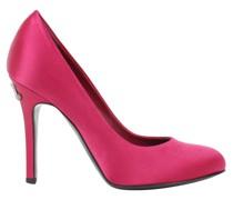 Second Hand Pumps/Peeptoes aus Seide in Rosa / Pink