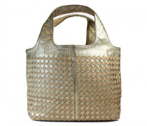 Second Hand Goldfarbene Handtasche