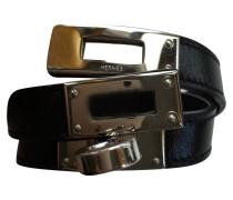 Second Hand Kelly Armband, schwarz, silber
