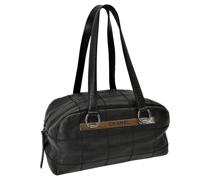 Second Hand Tote Bag aus Leder in Schwarz
