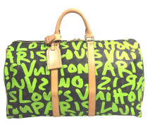 Second Hand Keepall 50 Monogram Graffitit Canvas
