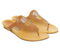 Second Hand Zehen-Sandale in Ocker
