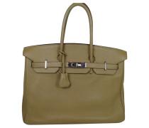 Second Hand Birkin Bag 35 Poussiere Clemence Leder