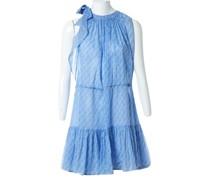 Second Hand Kleid aus Baumwolle in Blau