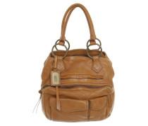Second Hand Lederhandtasche in Braun