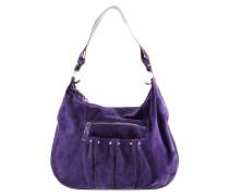 Second Hand Wildledertasche in Violett