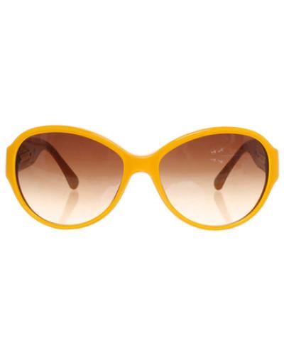 chanel damen second hand sonnenbrille in gelb reduziert. Black Bedroom Furniture Sets. Home Design Ideas